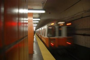 subway train arriving