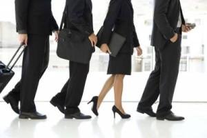 business people walking image