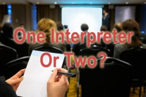 One interpreter or two image